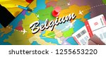 belgium travel concept map... | Shutterstock . vector #1255653220