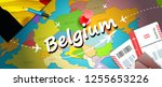belgium travel concept map... | Shutterstock . vector #1255653226