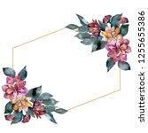 bouquet floral botanical flower.... | Shutterstock . vector #1255655386
