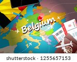 belgium travel concept map... | Shutterstock . vector #1255657153
