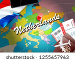 netherlands travel concept map... | Shutterstock . vector #1255657963