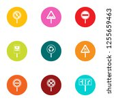 bend icons set. flat set of 9... | Shutterstock . vector #1255659463