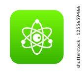 atomic model icon digital green ... | Shutterstock . vector #1255659466