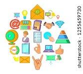 diary icons set. cartoon set of ... | Shutterstock . vector #1255659730