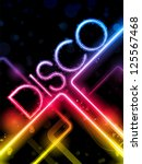 vector   disco abstract... | Shutterstock .eps vector #125567468
