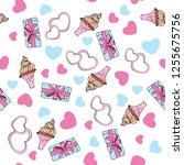 seamless  pattern for valentine'...   Shutterstock .eps vector #1255675756