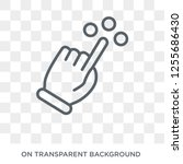 touch and move gesture icon.... | Shutterstock .eps vector #1255686430
