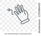 turn left gesture icon. trendy... | Shutterstock .eps vector #1255686433