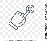 touch and join icon. trendy... | Shutterstock .eps vector #1255686436