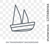 sailboat icon icon. trendy flat ...   Shutterstock .eps vector #1255686466