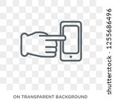 command on and off gesture icon.... | Shutterstock .eps vector #1255686496