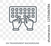 hands and keyboard icon. trendy ... | Shutterstock .eps vector #1255686586