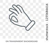 ok gesture icon. trendy flat... | Shutterstock .eps vector #1255686616