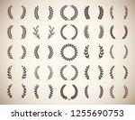collection of twenty five... | Shutterstock .eps vector #1255690753