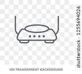 modem with two antenna icon.... | Shutterstock .eps vector #1255694026