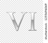 silver roman numeral number 6 ...   Shutterstock .eps vector #1255696069
