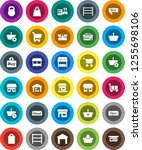 white solid icon set  office... | Shutterstock .eps vector #1255698106