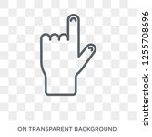 hand gesture raising the index... | Shutterstock .eps vector #1255708696