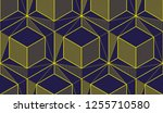 geometric cubes abstract... | Shutterstock .eps vector #1255710580