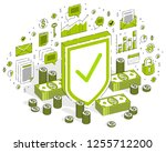 protection of finances concept  ... | Shutterstock .eps vector #1255712200