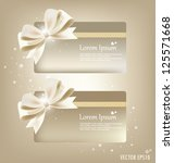 collection of gift cards and... | Shutterstock .eps vector #125571668