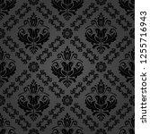 orient vector classic pattern.... | Shutterstock .eps vector #1255716943