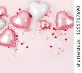 air balloons of heart shaped... | Shutterstock . vector #1255717690