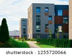 apartment modern houses and... | Shutterstock . vector #1255720066