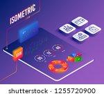 isometric vector. set of... | Shutterstock .eps vector #1255720900