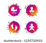 baby infants icons. toddler boy ... | Shutterstock .eps vector #1255720933