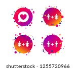 couple love icon. lesbian and... | Shutterstock .eps vector #1255720966