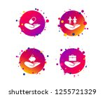 helping hands icons. protection ... | Shutterstock .eps vector #1255721329