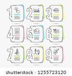 infographic timeline set of... | Shutterstock .eps vector #1255723120