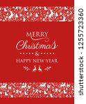 christmas banner with festive...   Shutterstock .eps vector #1255723360
