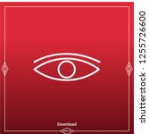 eye icon for mobile and web... | Shutterstock .eps vector #1255726600