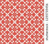 vector geometric floral pattern....   Shutterstock .eps vector #1255735456