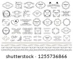 calligraphic design elements .... | Shutterstock .eps vector #1255736866