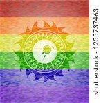 fertilization icon on mosaic... | Shutterstock .eps vector #1255737463