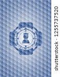 graduation icon inside blue... | Shutterstock .eps vector #1255737520