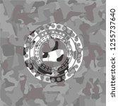 like icon inside grey camo... | Shutterstock .eps vector #1255737640