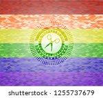 scissors icon inside lgbt... | Shutterstock .eps vector #1255737679