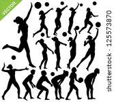 women beach volleyball... | Shutterstock .eps vector #125573870