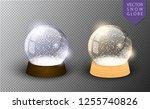 vector snow globe empty... | Shutterstock .eps vector #1255740826
