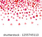 red flying hearts bright love... | Shutterstock .eps vector #1255745113