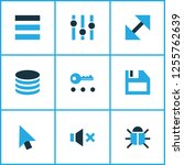 interface icons colored set... | Shutterstock .eps vector #1255762639