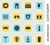 drink icons set with beer mug ... | Shutterstock .eps vector #1255762849