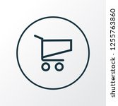 shopping icon line symbol....