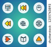 multimedia icons colored line... | Shutterstock . vector #1255763893