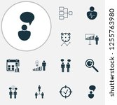 management icons set with...   Shutterstock .eps vector #1255763980