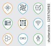learning icons set with... | Shutterstock .eps vector #1255763983
